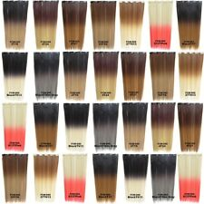 Synthetic Dip Dye Ombre 5 Clips Hairpiece Clip In Straight Slice Hair Extensions