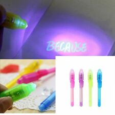 4PC Secret Message Invisible Ink Pen with Built in UV Light Magic Marker NEW