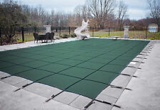 HPI Rectangle GREEN MESH In-Ground Swimming Pool Safety Cover-12 Yr Limited WTY