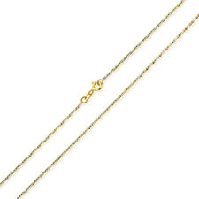 Men Women 14K Two Tone Gold Chain 1mm Fancy Twisted Box Chain Necklace
