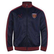 West Ham United FC Official Football Gift Mens Retro Track Top Jacket