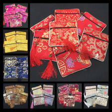 Tassel Packaging Bag Floral Fabric Bag Coin Purse Bag Silk Brocade Jewelry 1 Pcs