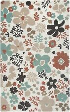 Rizzy Rugs Country Hand-Tufted Wool White Area Rug