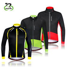 Men Winter Cycling Bicycle Jacket Thermal Fleece Windproof  Breathable Bike Coat
