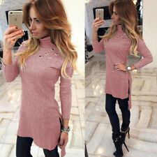 Long Sleeve Sexy New Womens Fashion Bodycon High-Necked Slim Long T-shirt