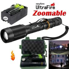 20000LM Zoomable T6 LED Tactical 5-Mode Focus Flashlight +Case+ 18650 Focus Lamp