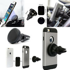 Car Air vent Magnetic Mount Holder Cradle Phone Kit For Apple iPhone HTC UK