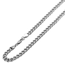 Men Women 9mm Stainless Steel Chain Necklaces Cuban Link Curb Chain