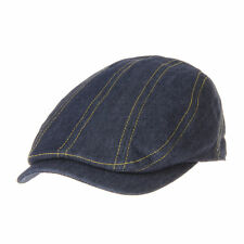 WITHMOONS Stitched Denim Newsboy Hat Flat Cap LD3182