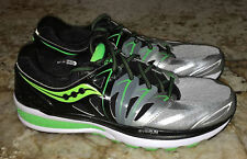 SAUCONY Hurricane ISO 2 Silver Black Lime Running Shoes Sneakers NEW Mens 10.5 W