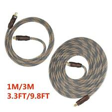 3.3/9.8FT Premium 24k Gold Heads Digital Toslink Optical Audio Cable OD6.0 R4Y1