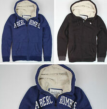 New Abercrombie & Fitch Men's Sherpa Lined Hoodie Sizes XS, S, M, L, XL