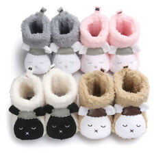 New Toddler Boy Girl Winter Warm Soft Sole Boots Baby Booties Crib Shoes 0-18M