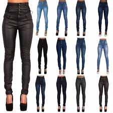 Womens High Waisted Sexy Skinny Fit Jeans Ladies Stretch Denim Jegging Size 6-10