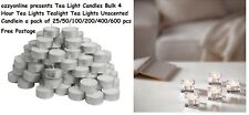 Tea Light Candles Bulk 4 Hour Tea Lights Tealight Tea Lights Unscented Candle