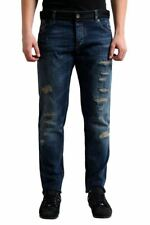 "Dolce & Gabbana ""Gold"" Distressed Men's Straight Legs Jeans Sz 30 32 34 36"