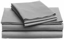 AU Bedding Collection 1000 Thread Count 100% Cotton Light Grey Solid