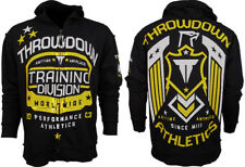 """NWT Throwdown by Affliction """"Training Division"""" Hoodie MMF Fighter Black Zip Up"""