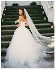 Ivory White Cathedral Wedding Bridal Veils 2 Tier Tulle 3M Long with comb
