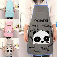 Women Cute Cartoon Simple Waterproof Apron Kitchen Restaurant Cooking Bib Aprons