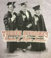 NEW THE THREE STOOGES HIGHER LEARNING DOUBLE SIDED SHIRT - VARIOUS SIZES (*8)