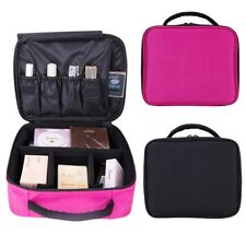 Large Beauty Make Up Nail Tech Cosmetic Box Jewellery Vanity Case Storage Bag