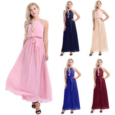 Women Bridesmaid Chiffon Ball Prom Gown Formal Evening Party Cocktail Long Dress