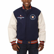2017 World Series Champions Houston Astros JH Design Wool Jacket Leather Sleeves