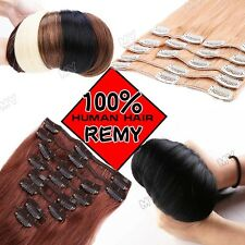 "8"" 10"" 13"" 16"" 18"" 20"" 22"" Clip In Extensions 100% Remy Human Hair Full Head II9"