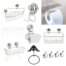 Chrome Modern Bath Accessories Towel Bar Ring Toilet Bathroom Hardware Set