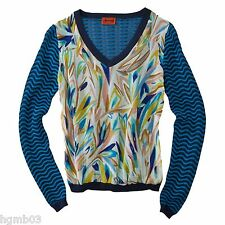 MISSONI FOR TARGET MIXED MEDIA V NECK SWEATER CHIFFON BLUE S, M, L