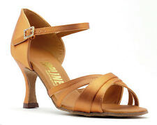 Ladies Tan Or Black Latin Ballroom Dance Shoes By Topline Katz Style CHELSEA