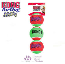Kong Airdog Squeakair Dog Tennis Balls MEDIUM Squeak Fetch 3 pack Multi coloured