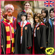 Unisex Harry Potter Cosplay Costume Gryffindor Robe Cape Cloak Tie Scarf +Letter