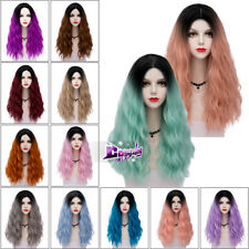 "Lolita 26"" Long Multi Color Curly Synthetic Hair Cosplay Full Wig Heat Resistant"