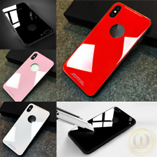 Tempered Glass Back Panel and TPU Bumper Hybrid Protective Case For iPhone X / 8