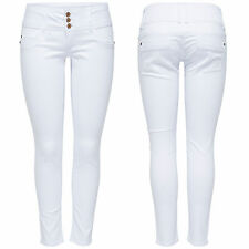 Ladies Denim Hip Jeans Trousers Anemone Soft Ankle 907 Skinny White Ankle Length