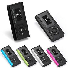 USB Mini Clip MP3 Player Color LCD Screen Display Support 16GB Micro SD TF Card