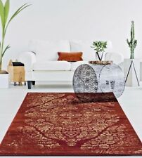 RUGS AREA RUGS 8x10 AREA RUG CARPET LARGE FLOOR FLORAL RED FADED DISTRESSED RUGS
