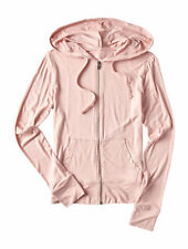 aeropostale womens seriously soft solid full-zip hoodie