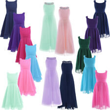 Girls Princess Dress Flower Party Bridesmaid Wedding Pageant Gown Prom Dress Kid