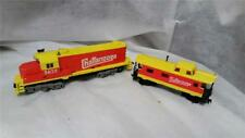 Tyco Chattanooga Lot Locomotive 5628 and Caboose with Box #327-15B Orange Yellow