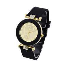 Gold Geneva sport Watch Women dress casual Crystal Silicone Watches homme