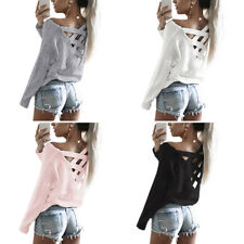 Womens Casual T Shirt Long Sleeve Shirt Loose Blouse Tops New Fashion