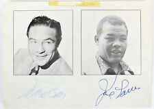 Joe Louis & Max Baer Authentic Signed 5x7 Boxing Promo Photo JSA #Y78155