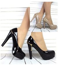 NEW WOMENS LADIES HEEL CASUAL SMART WORK PUMP COURT SHOES SIZE 3 4 5 6 7