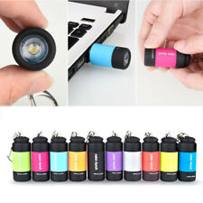 Hot USB Rechargeable LED Lights Flashlight Pocket Keychain Mini Torch Waterproof