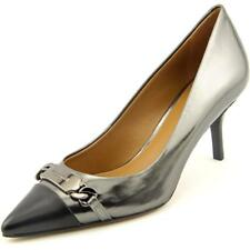 Coach Bowery Women  Pointed Toe Patent Leather Gray Heels