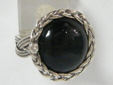 Black Onyx Fine 925 Sterling Silver Shablool Ring Cocktail For Women