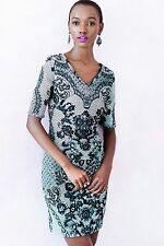 NWT ANTHROPOLOGIE SKETCHED LACE DRESS by YOANA BARASCHI 2, 4